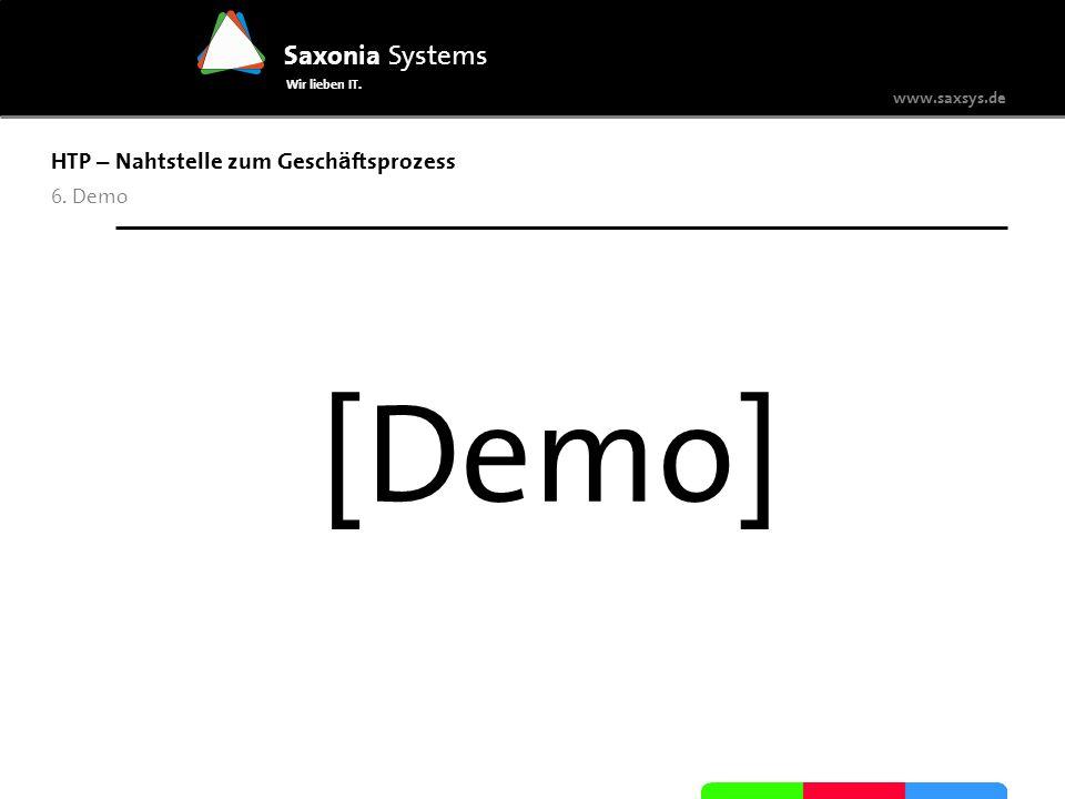 [Demo] HTP – Nahtstelle zum Geschäftsprozess 6. Demo